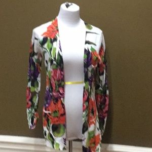 Anthropologie Floral Print Sweater